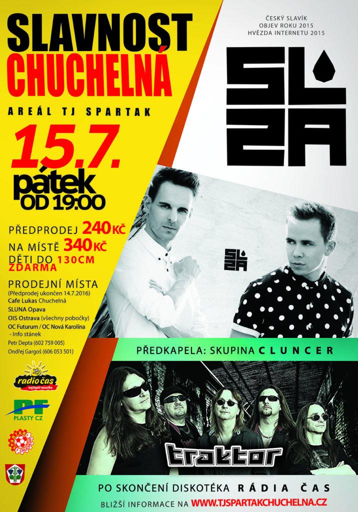 Plakát sportovní slavnost Chuchelná 2016